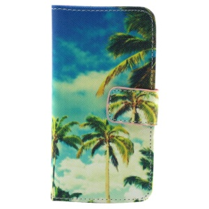 Palm Tree Wallet Leather Cover w/ Stand for iPhone 5c