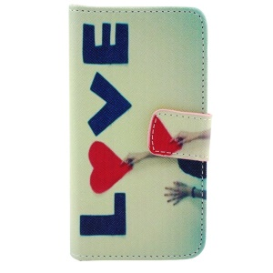Love Letters & Girl Flip Wallet Leather Stand Shell for iPhone 5c