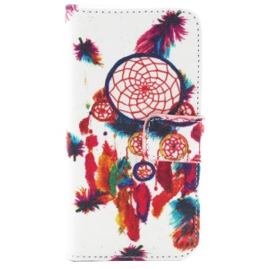 Colorful Dream Catcher Magnetic Wallet Leather Shell for iPhone 5c