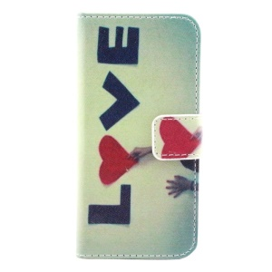 Love & Girl Flip Wallet Stand Leather Case for iPhone 5s 5