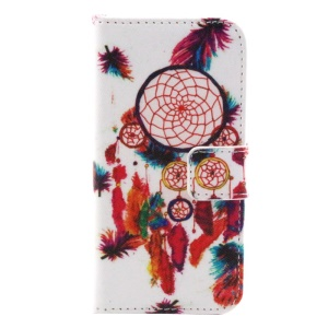 Colorful Dream Catcher Flip Wallet Stand Leather Cover for iPhone 5s 5