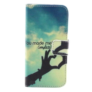 You Made Me Complete Flip Wallet Stand Leather Cover for iPhone 5s 5