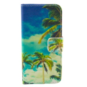 Palm Tree Flip Wallet Stand Leather Case for iPhone 5s 5
