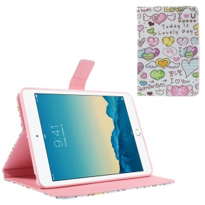 Romantic Loving Hearts for iPad mini 1 2 3 Smart Leather Stand Case