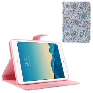 Cute Colorful Flowers for iPad mini 1 2 3 Smart Leather Stand Case