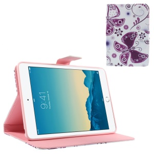 Purple Butterflies & Blossom Smart Leather Stand Cover for iPad mini 1 2 3