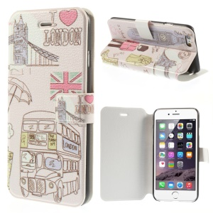 I Love London & Big Ben Leather Stand Case for iPhone 6 4.7 inch