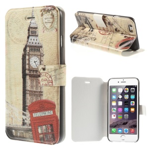 Big Ben & London Tower Bridge Flip Leather Stand Shell for iPhone 6 4.7 inch