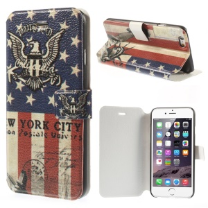 Eagle & USA Flag Magnetic Leather Stand Case for iPhone 6 4.7 inch
