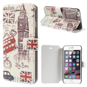 Big Ben & UK Flag Magnetic Leather Stand Shell for iPhone 6 4.7 inch