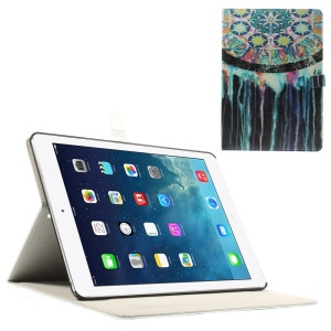 Watercolor Dream Catcher for iPad Air Silk Leather Magnetic Stand Cover