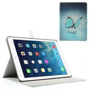 Dreamlike Butterfly for iPad Air Silk Leather Magnetic Stand Protective Shell
