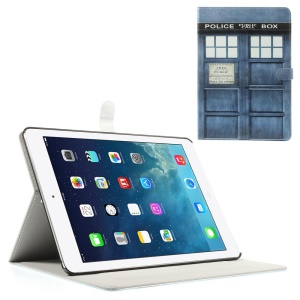 Police Box for iPad Air Silk Leather Magnetic Stand Protective Shell