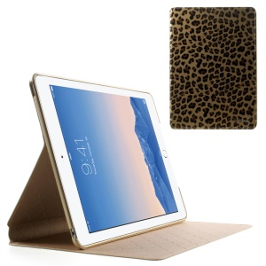 TSCASE Genuine Full Grain Leopard Smart Leather Stand Case for iPad Air 2