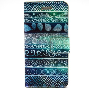 Tribal Tribe Leather Magnetic Cover w/ Stand for iPhone 6 Plus