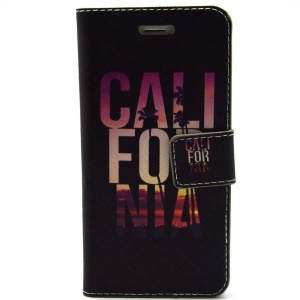 Alphabets California Magnetic Leather Case Stand for iPhone 6 Plus