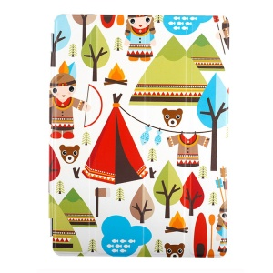Lofter Stand Smart Leather Cover for iPad 2 / 3 / 4 - India Family