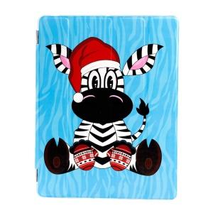 Christmas Dressing Zebra - Blue