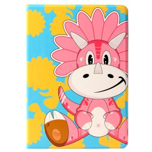 LOFTER Lolo Rocky Land Series Smart Leather Stand Case for iPad Air - Dinosaur Kate