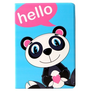 LOFTER Lolo Rocky Land Series Smart Leather Stand Shell for iPad Air - Panda Lolo