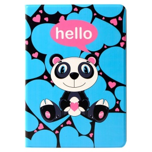 LOFTER Lolo Rocky Land Series Folio Stand Smart Leather Cover for iPad Air - Panda Lolo Waiting