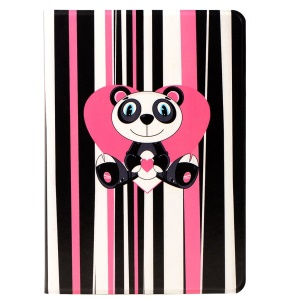 LOFTER Lolo Rocky Land Series Stand Leather Smart Case for iPad Air - Stripes Panda Lolo Strong