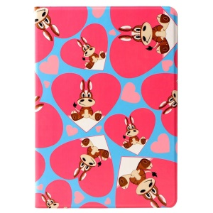 LOFTER Lolo Rocky Land Series Smart Leather Protective Case for iPad Air - Love Hearts Lucky Mach