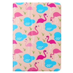 Lofter 360° Rotary Stand Smart Leather Cover for iPad Air - Flamingo
