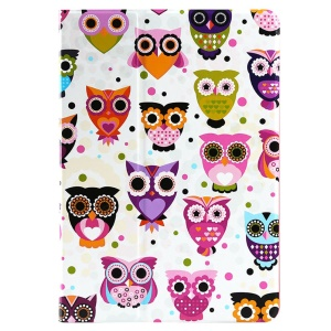 Lofter 360° Rotary Stand Smart Leather Cover for iPad Air - Owl Family