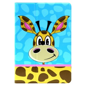 LOFTER Funny Giraffe Smart Leather Skin Case for iPad Air w/ 360 Rotary Stand