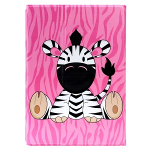 LOFTER Cute Sitting Zebra Smart 360 Rotation Leather Stand Case for iPad Air