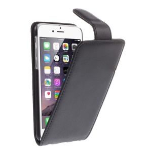 DOORMOON for iPhone 6 4.7 Inch Genuine Leather Case Vertical Flip - Black