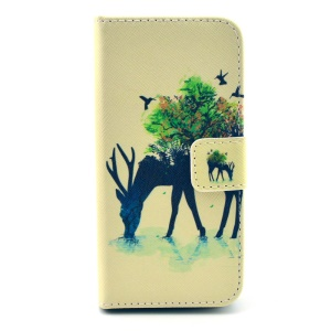 Unique Deer Wallet Leather Stand Case for iPhone 5s 5