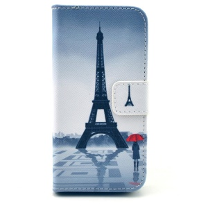 Eiffel Tower Wallet Leather Stand Case Cover for iPhone 5s 5