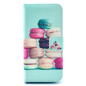 Delicious Cookies Wallet Leather Stand Cover Case for iPhone 5s 5
