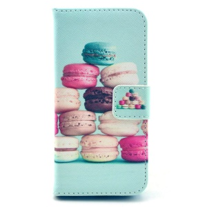 Colorful Macarons Leather Magnetic Case for iPhone 5c w/ Stand