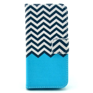 Chevron Pattern Leather Magnetic Cover for iPhone 5c w/ Stand