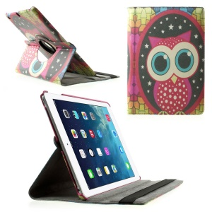 Rotary Stand Smart Leather Case for iPad Air - Owl & Star
