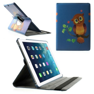 Rotary Stand Smart Leather Shell for iPad Air - Owl on the Branch