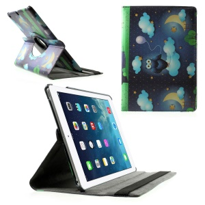 Rotary Stand Smart Leather Shell for iPad Air - Owl & Starry Sky