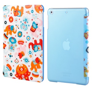 LOFTER Garden Series Smart Leather Stand Case for iPad Air - Colorful Elephant