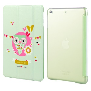 LOFTER Garden Series Smart Leather Stand Cover for iPad Air - Green Little Owl