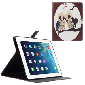 Leather Wallet Cover for iPad 2 / 3 / 4 with Stand - Owls on the Branch