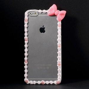 PC Back Case Decorated with Bowknot for iPhone 6 Plus 5.5 inch