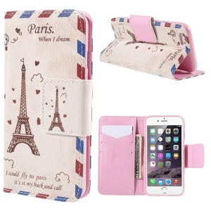 Eiffel Tower Wallet Stand Leather Case for iPhone 6 (4.7 inch)