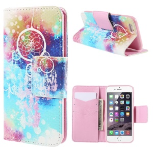 Dream Catcher Leather Wallet Stand Case for iPhone 6 Plus