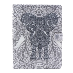 Flip Smart Leather Wallet Stand Shell for iPad 2 3 4 - Tribal Elephant
