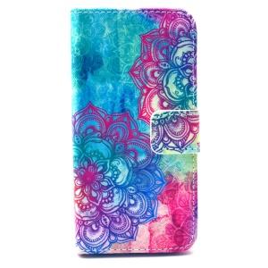 Flip Leather Wallet Phone Case for iPhone 5 5s - Elegant Mandala Pattern