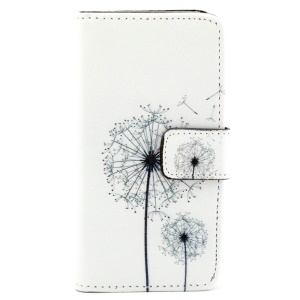 Wallet iPhone 5/5s Case with Stand - Dandelion Pattern