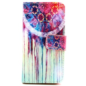 Wallet iPhone 5 5s Cover with Stand - Dream Catcher